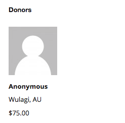 An anonymous donor