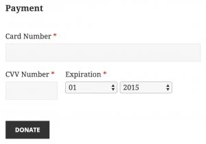 Authorize.Net donation payment form